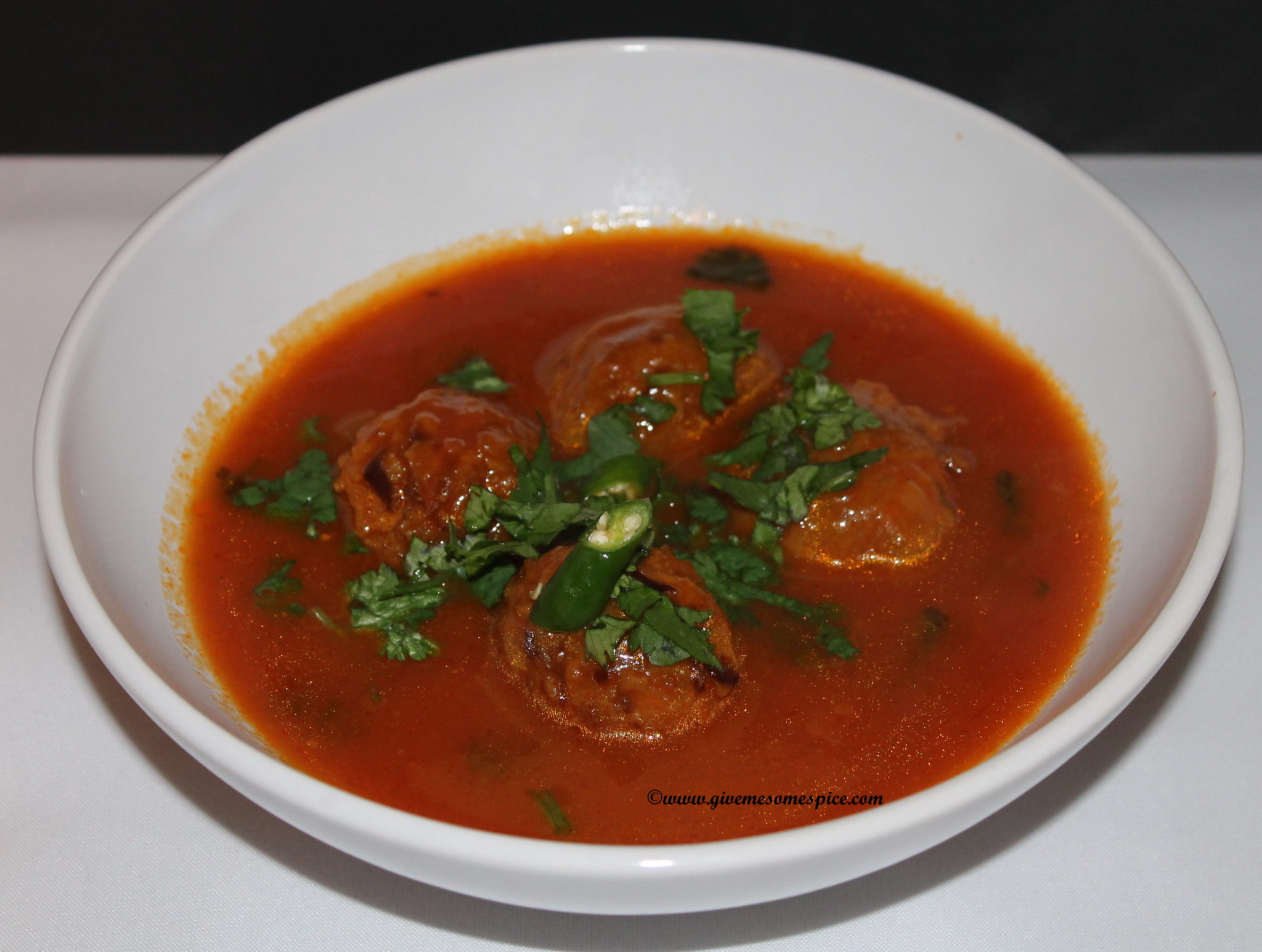 Manchurian Balls in spicy tomato soup | Authentic ...