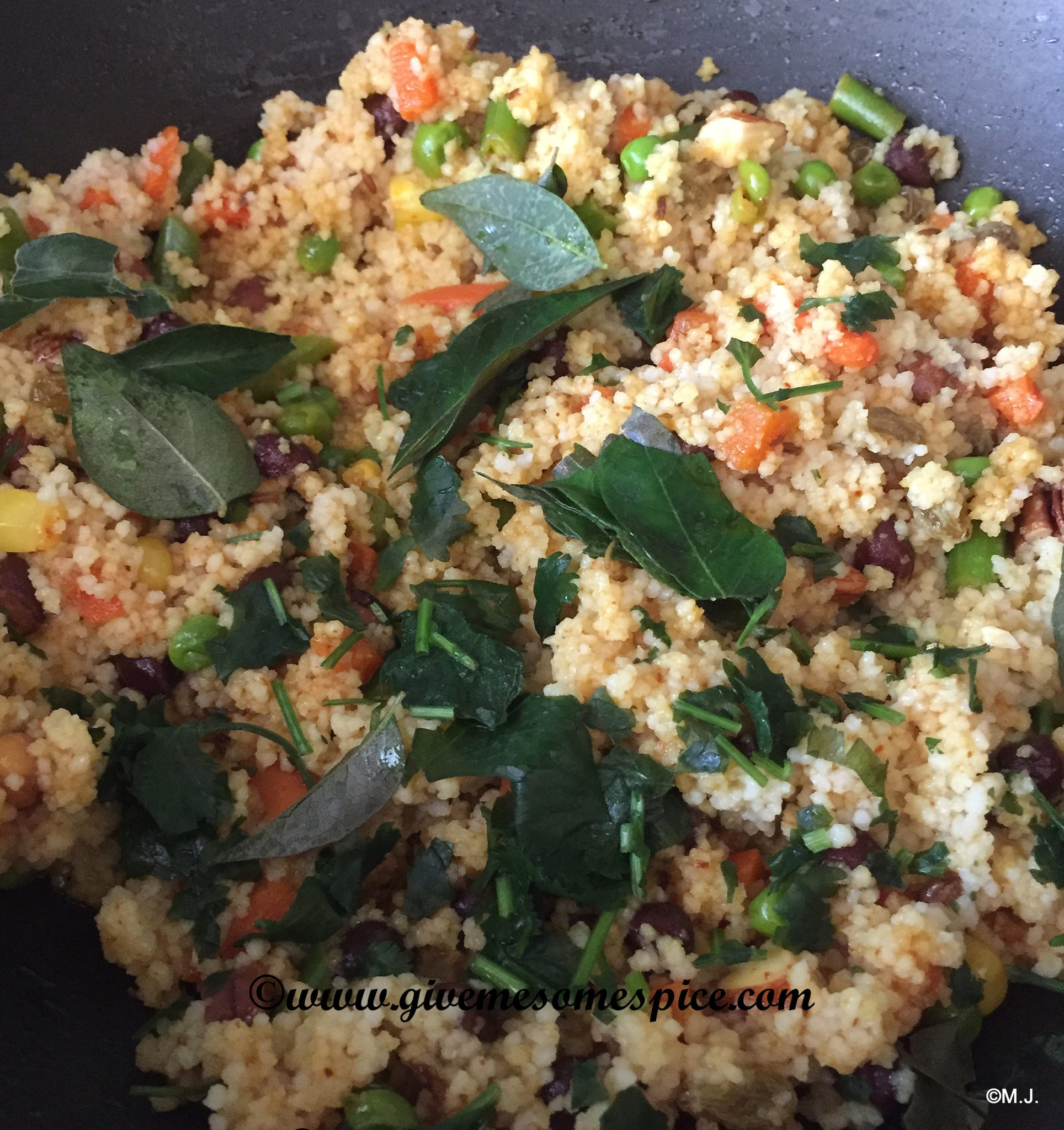 Spicy couscous with chickpeas, nuts and vegetables | Authentic ...
